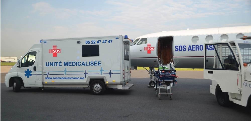 Sos ambulance Casablanca équipé d'ambulances médicalisées avec ambulanciers compétents et professionnels de l'urgence.